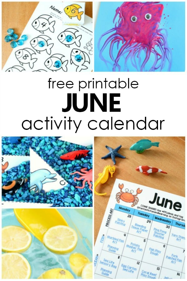 image relating to Free Preschool Calendar Printables called June Preschool Pursuits and Entertaining Variables in direction of Do With Young children