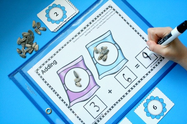 Free Printable Preschool Addition Math Center Activity
