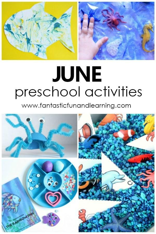 Fun Things to Do with Kids in June. Free printable June Preschool Activity Calendar #preschool #summer #prek