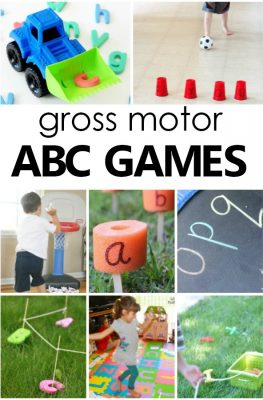 Gross Motor ABC Games. Alphabet Activities for Preschool and Kindergarten #preschool #kindergarten #alphabet