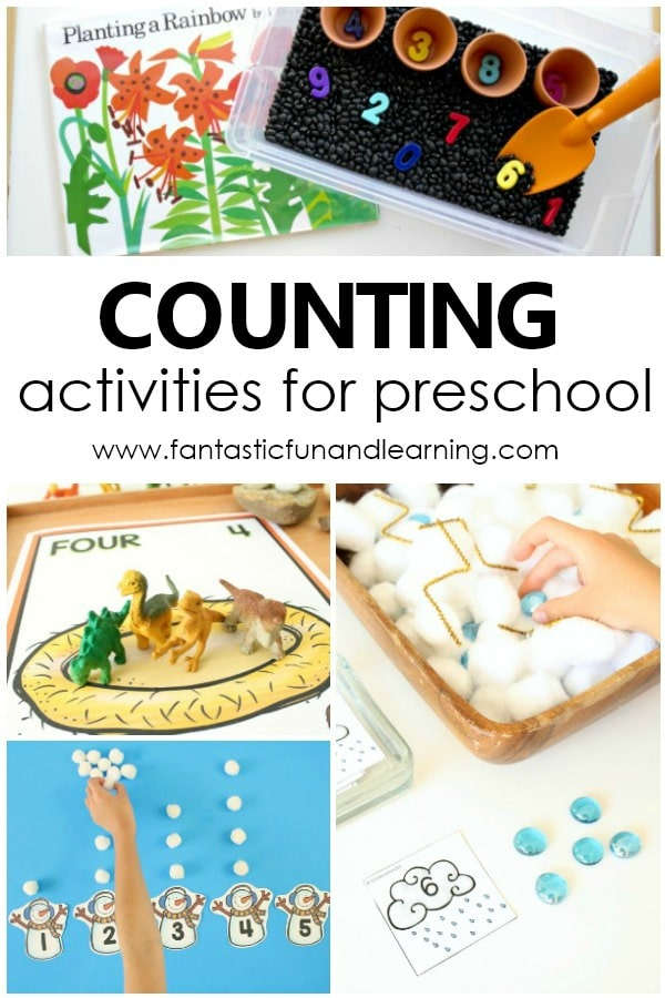 Learning to Counting. Preschool Counting Activities for Counting Numbers and Learning Number Recognition #preschool #counting #numbers #kindergarten