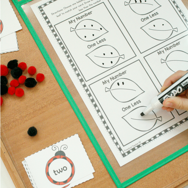One Less Activity-Ladybug Spring Math