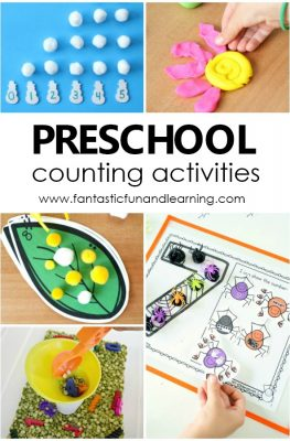 Preschool Counting Activities. Tips and hands-on ideas for counting numbers and learning to count. #preschool #math #kindergarten