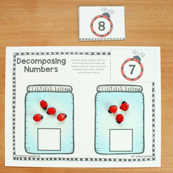Spring Math Activities-Ladybug Number Sense Guided Math Groups