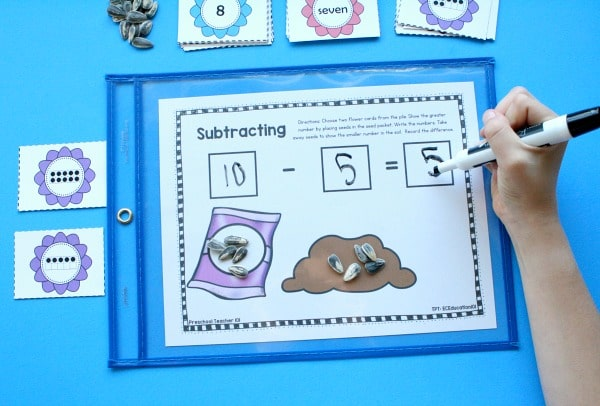 Subtraction Activities for Preschool and Kindergarten