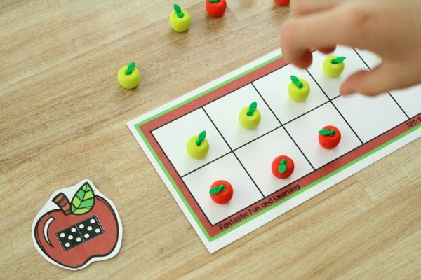 Apple Ten Frame for Preschool Counting Activities