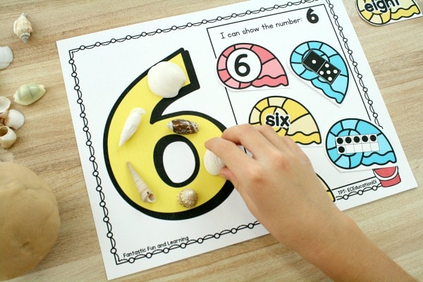 Beach Theme Math-Counting Numbers in Preschool