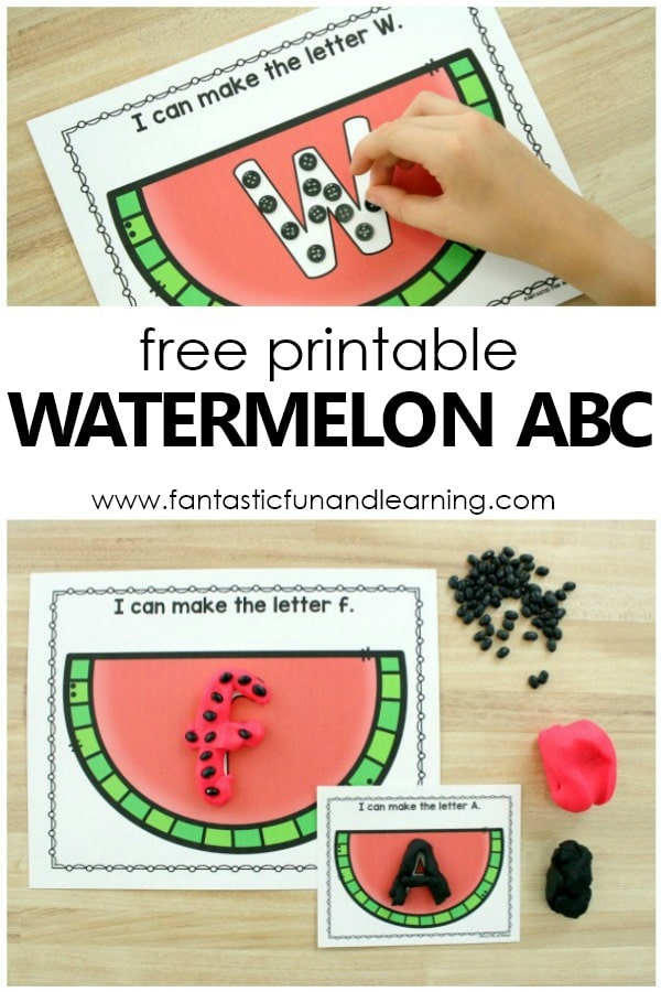 Free printable Watermelon ABC Letter Mats for Preschool Alphabet Activities #summer #alphabet #prek #kinder #abcs
