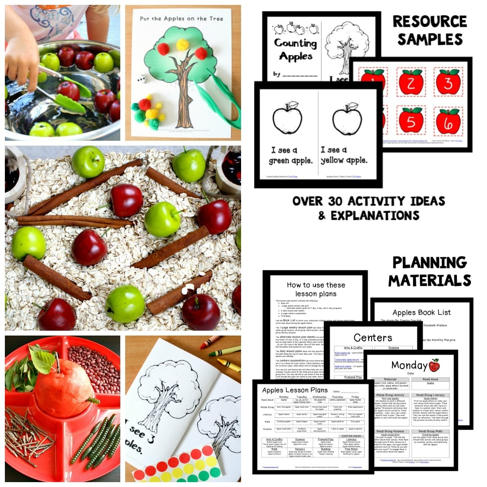 Preschool Apple Theme Activities and Lesson Plans