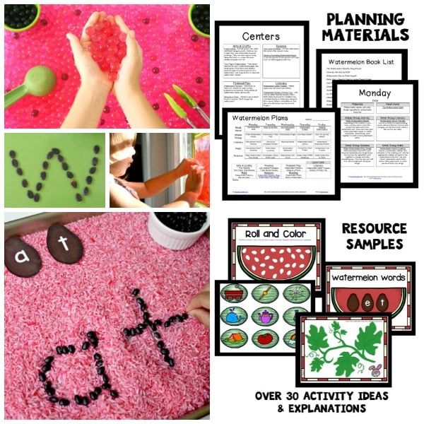 Preschool Summer Themes-Watermelon Lesson Plans