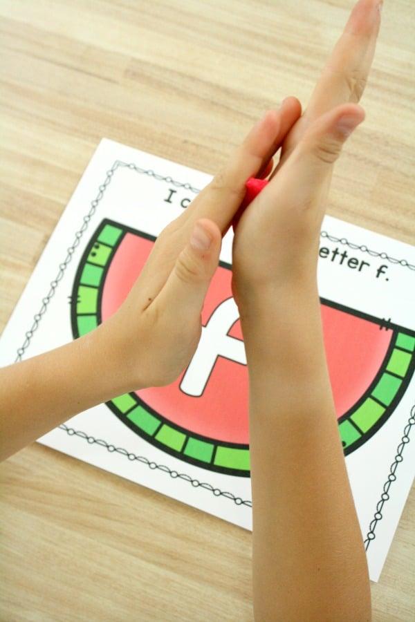 Playdoh Mats for Kids-ABC Activities