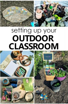Setting up your Outdoor Classroom. Tips for creating an outdoor learning space for preschoolers #preschool #outdoorclassroom #natureinspiredlearning
