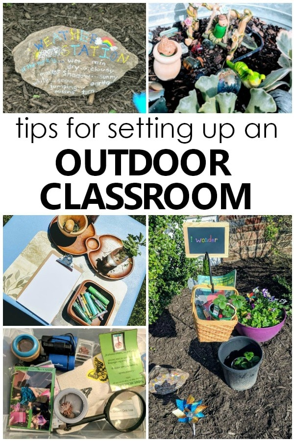 Tips for Setting up an Outdoor Classroom for Preschoolers #preschool #preschoolathome #earlylearning