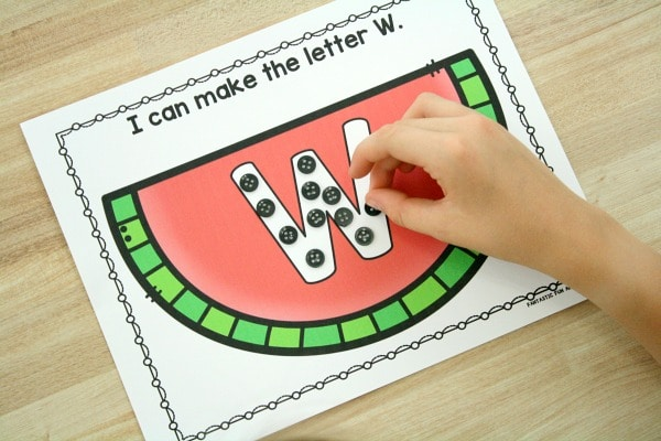 Watermelon Alphabet Mats for Preschool and Kindergarten