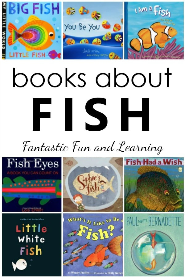 Fish Books for Kids. Fiction and Nonfiction Books about Fish for Preschool and Kindergarten #fishtheme #preschool #kindergarten #booklist #kidlit