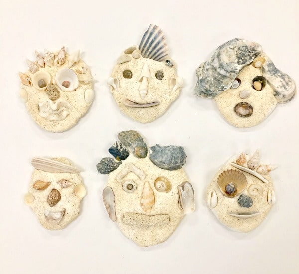Seashell Self-Portrait Examples of Kid Art Project