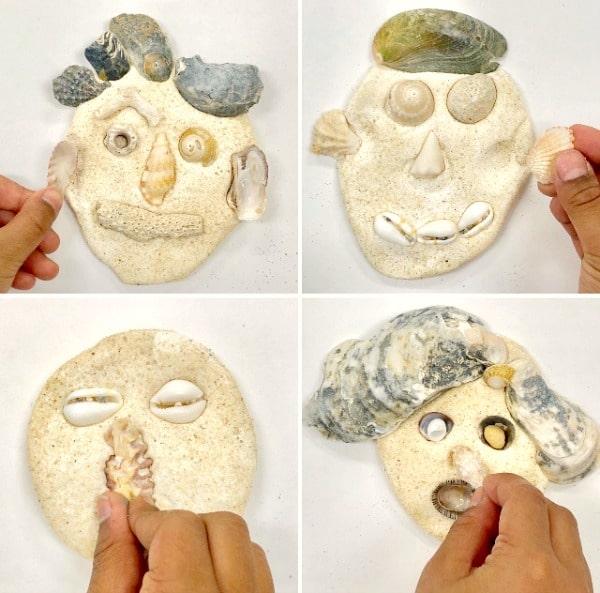 Summer Self-Portraits Shell Theme Art for Kids