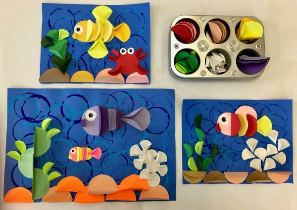 Paper Relief Ocean Craft for Kids