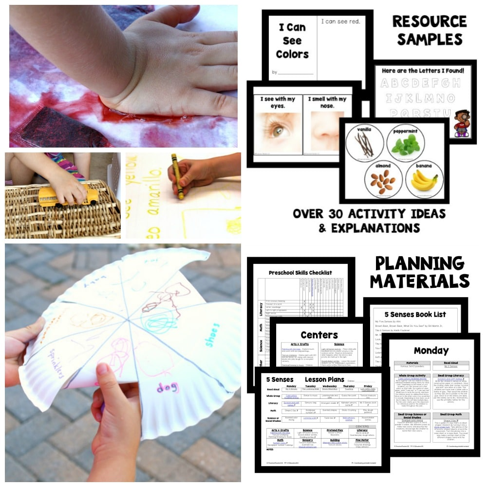 Five Senses Theme Preschool Activities - Fantastic Fun