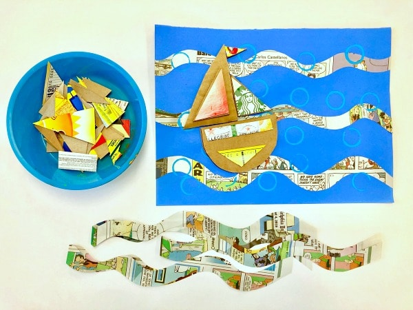 Boat Craft for Kids-Summer Recycled Art