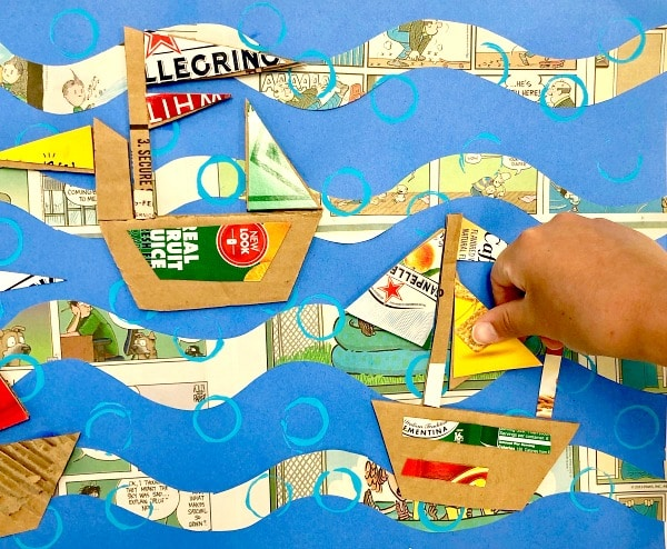 Boat Paper Craft Summer Art for Kids