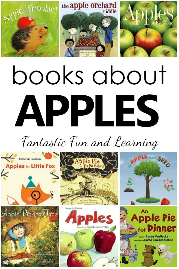 Books About Apples-Preschool Apple Theme Book List #preschool #preschoolthemes #apples #booklist #kidlit