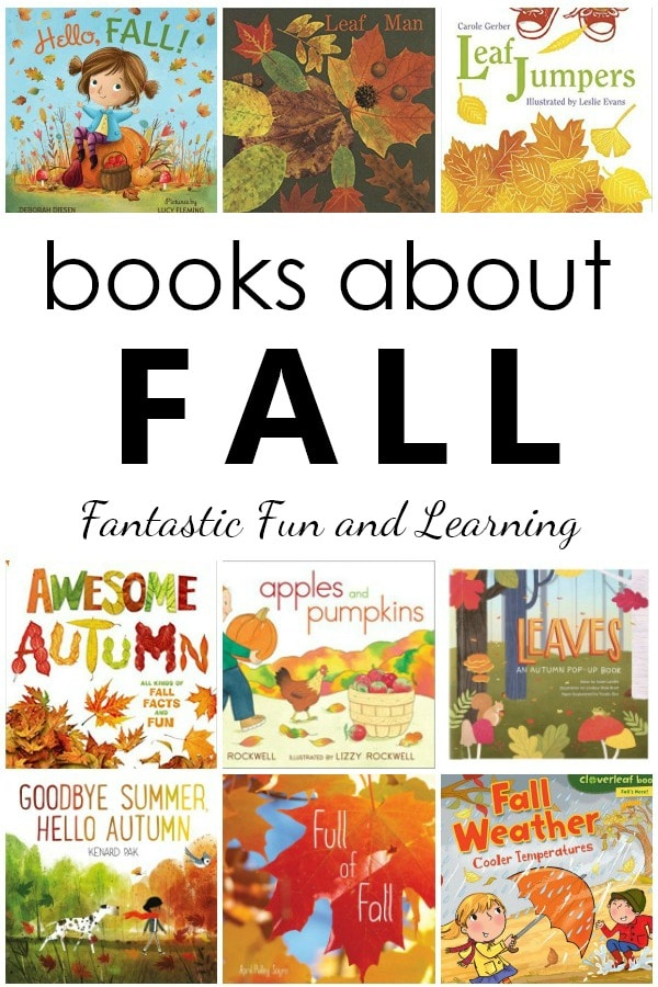 Books About Fall. 20 Favorite Fall Books for Kids. Fun autumn books to read aloud  in preschool and kindergarten #preschool #kindergarten #fall #booklist
