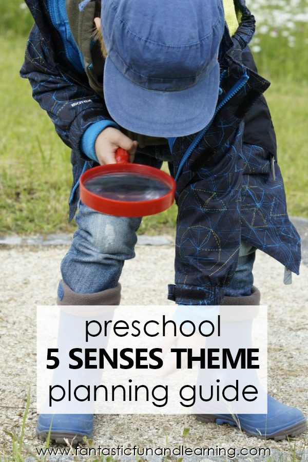 Five Senses Theme Preschool Activities and Lesson Plans #preschool #fivesenses #prek