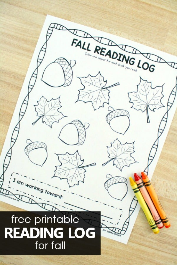 image about Free Printable Reading Logs identified as Drop Looking through Logs for Little ones - Excellent Entertaining Mastering