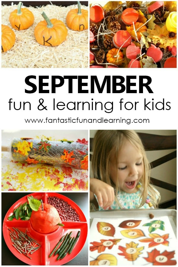 Fun Things to Do in September with Kids. Preschool fall theme activities #preschool #earlylearning #freeprintable