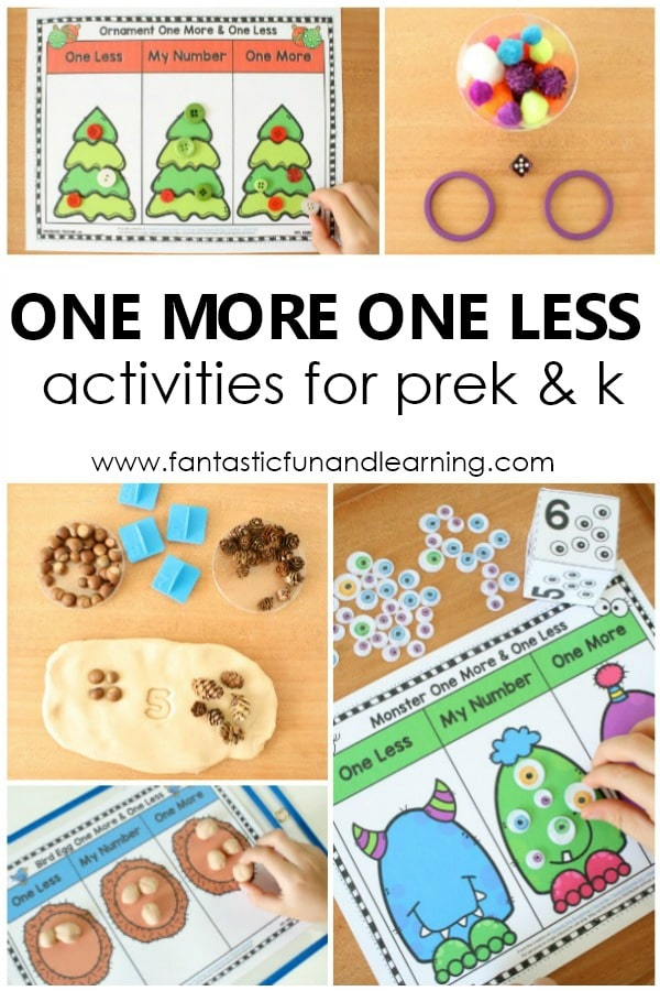 One More One Less Activities for Preschool and Kindergarten