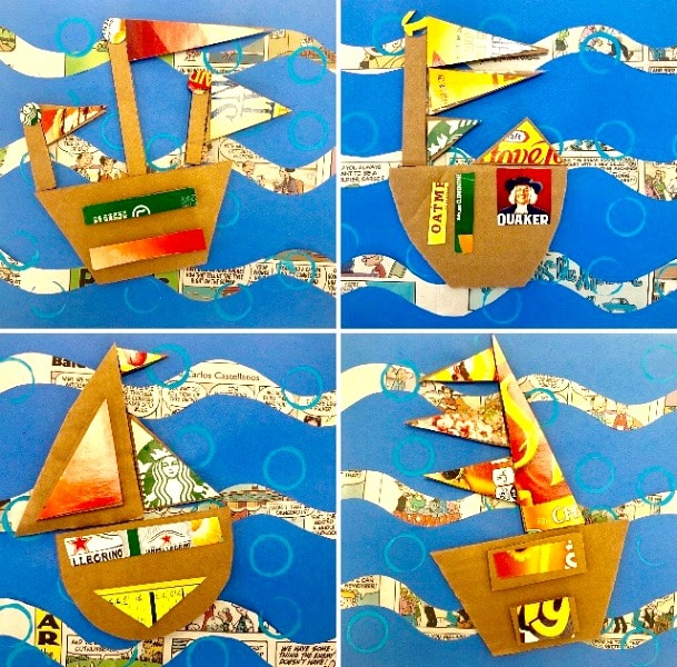 Recycled Art for Kids Boat Craft and Art Project