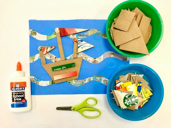 Summer Art Project for Kids-Recycled Boat