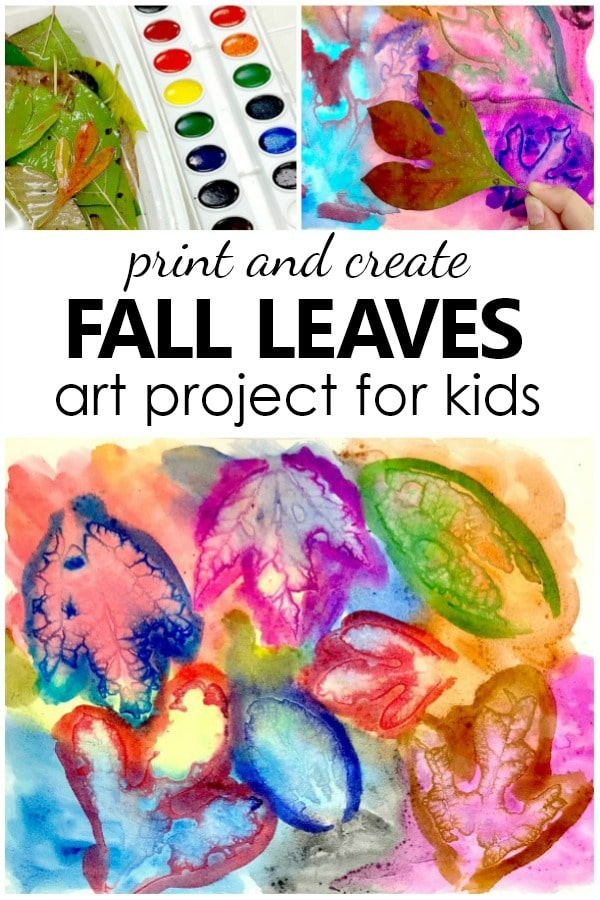 Printing Fall Leaves Art Project For Kids Fantastic Fun