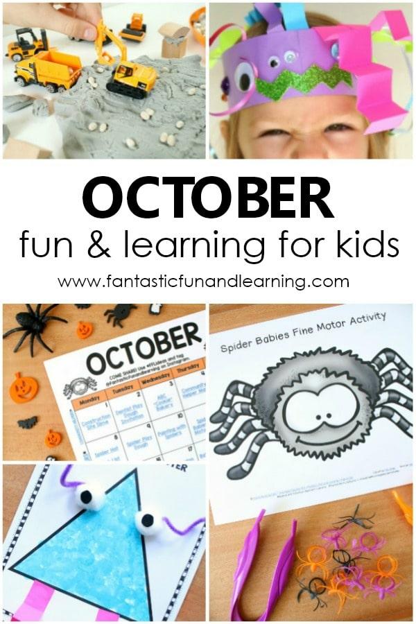 Fun Things to Do with Kids in October-Preschool Halloween Activities
