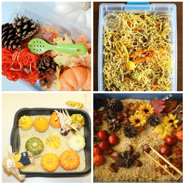 Preschool Fall Theme Sensory Bins