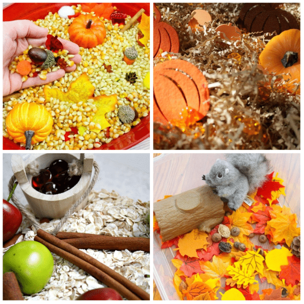 Fall Theme Sensory Play-Creative Fall Sensory Bins