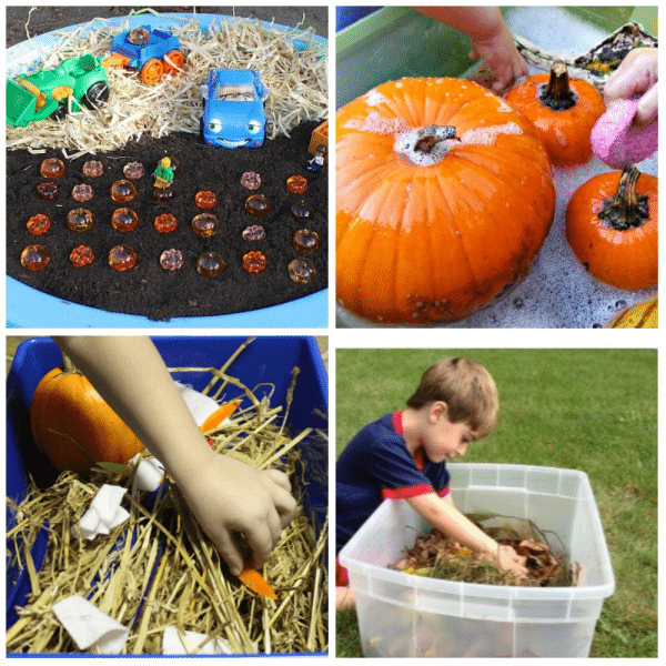 Autumn Sensory Bin Ideas