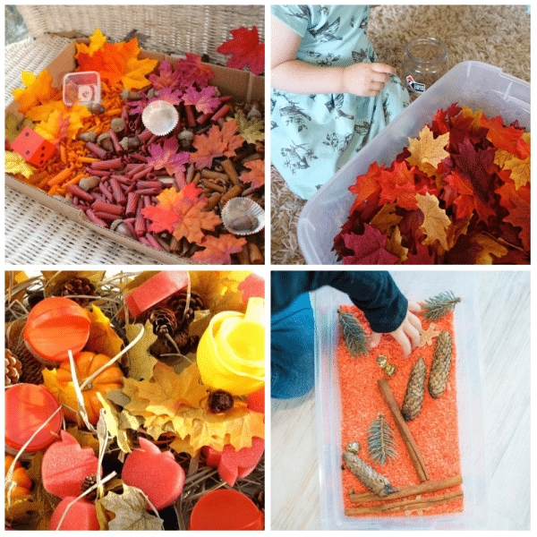 Fall Leaves Sensory Play for Toddlers