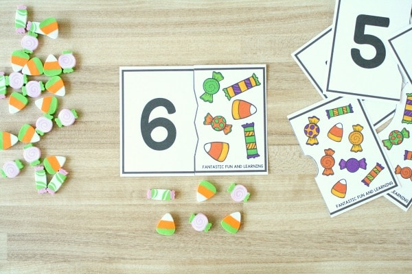 1-10 Puzzles-Counting Activities