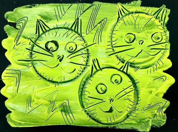 Cat Halloween Art Project for Kids