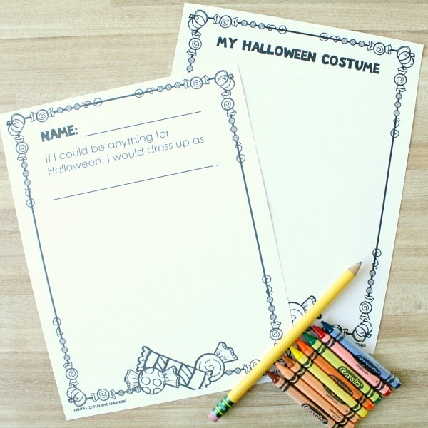 Free Printable Halloween Drawing and Writing Activity