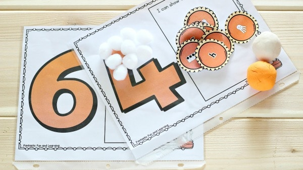 Free Printable Thanksgiving Math-Pumpkin Pie Counting