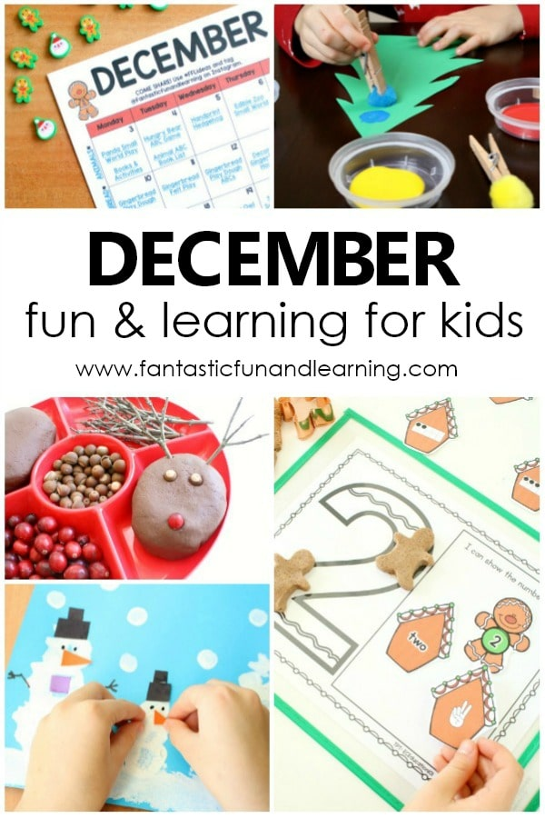 Fun Things to Do with Kids in December. Preschool Activities for December
