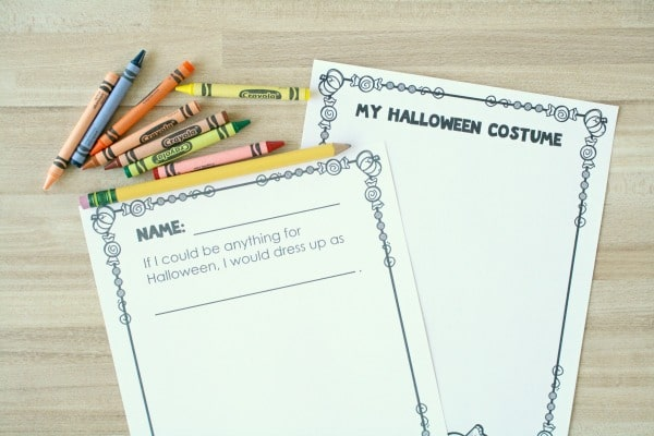 Halloween Drawing and Writing Activity-Preschool and Kindergarten