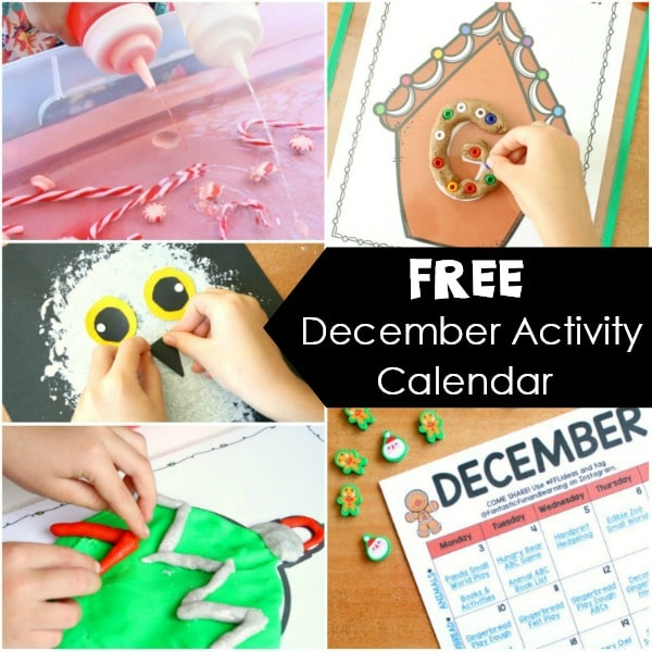 Monthly Activity Calendar Square-December