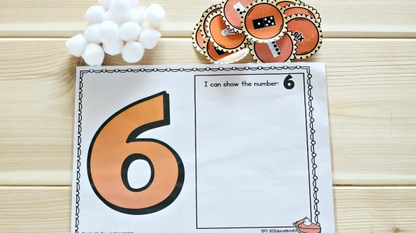 Thanksgiving Math Freebie for Preschool and Kindergarten