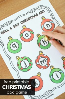 Christmas ABC Game Freebie for Preschool and Kindergarten Christmas Theme Activities