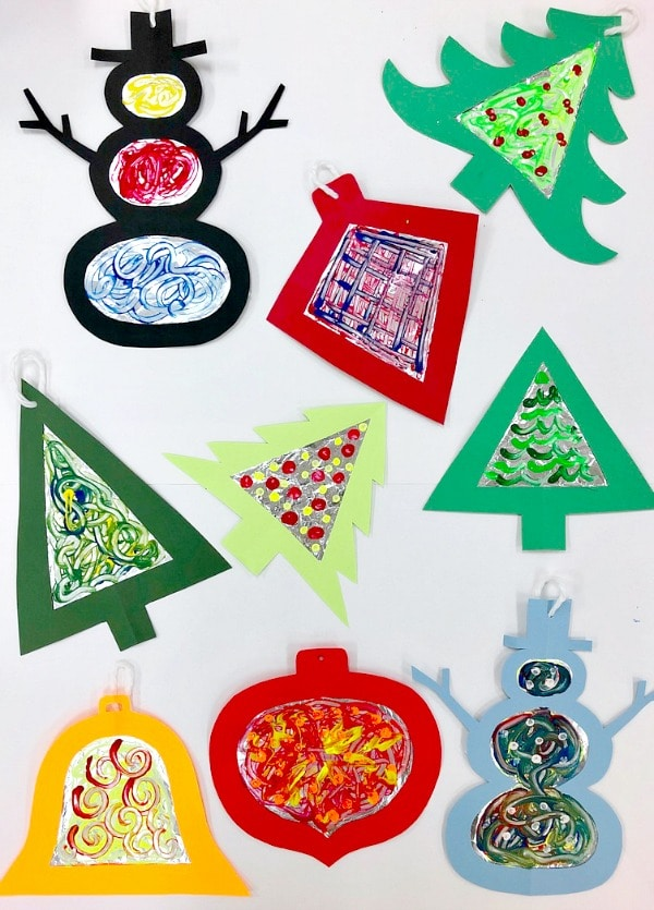 Tinfoil Process Art Craft For Kids Christmas Ornaments