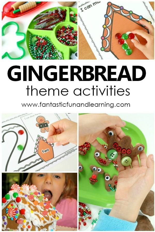 Gingerbread Theme Activities and Lesson Plans for preschool and kindergarten